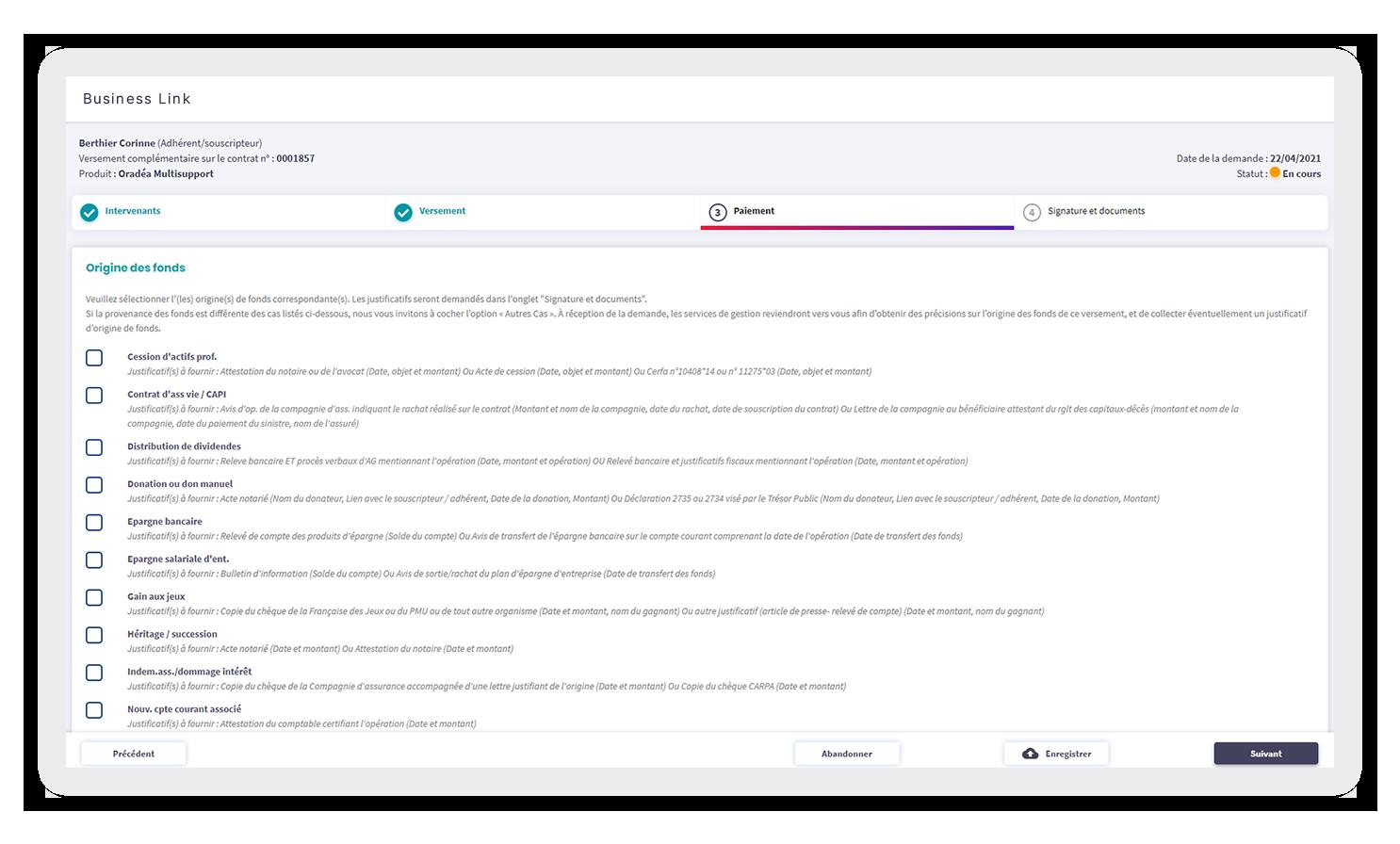 Business Link screenshot